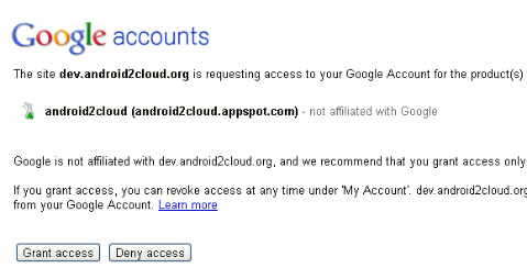 android2cloud-step-5-grant-web-access