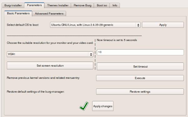 burg-manager-parameter