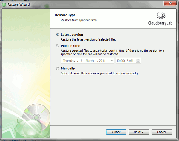 cloudberrybackup-restore