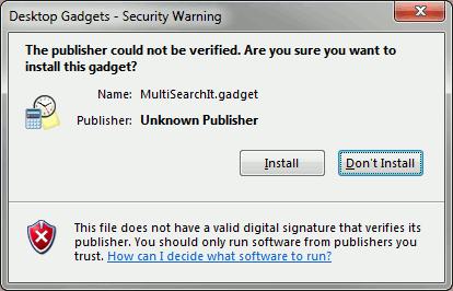 gadget-verifyinstall