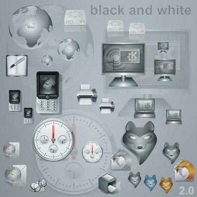kde-icons-black-n-white