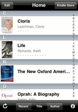 Kindle App Home