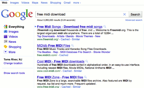 google-mididownload