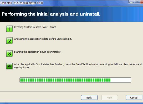 Uninstall procedure