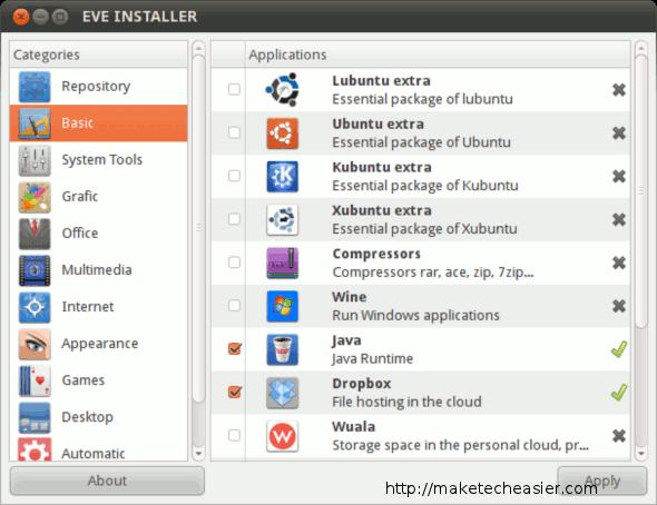 Eve Installer main window