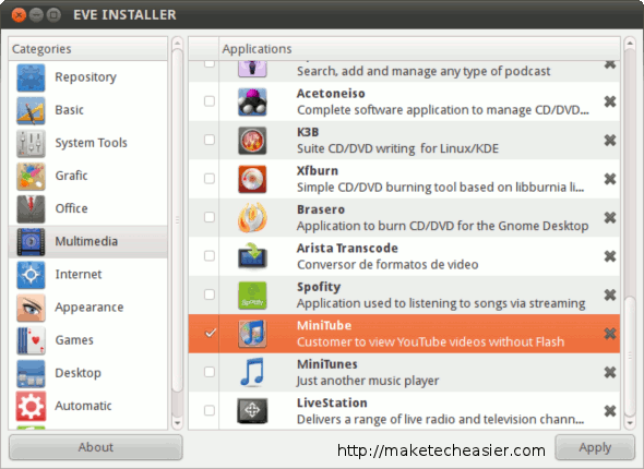 Selecting software to install