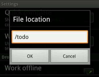 Adding a location
