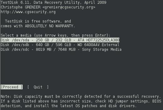 testdisk-selectdevice