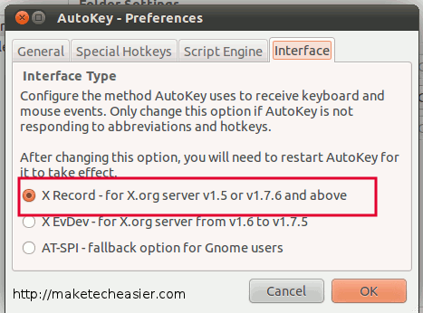 autokey-interface