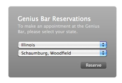genius bar reservation