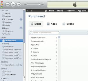 iTunes-PurchasedList