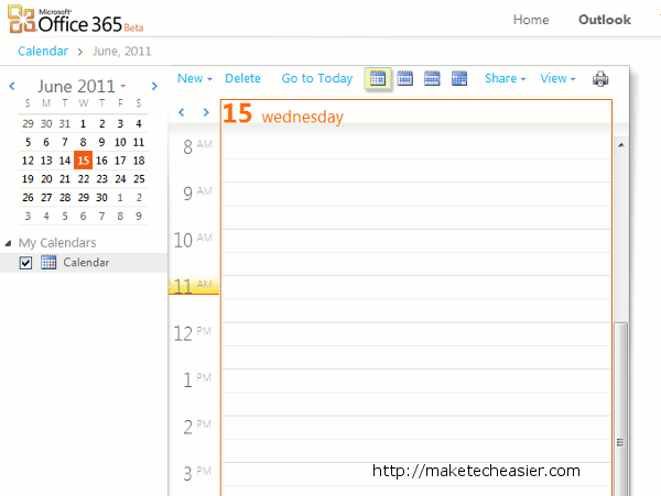 how to add an outlook.com calendar to office 365