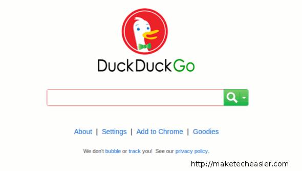 DuckDuckGo front page