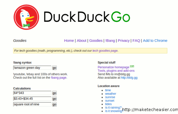 Useful DuckDuckGo utilities