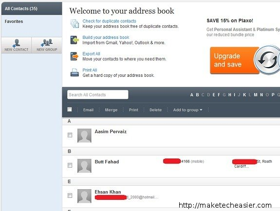 Where can you find your address book in Gmail?
