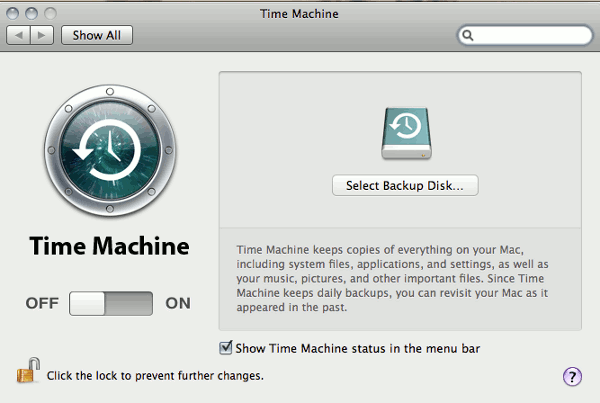 Time-machine-setup