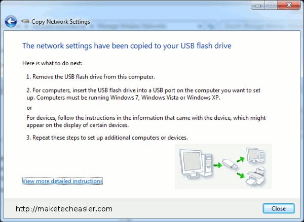 copy network settings