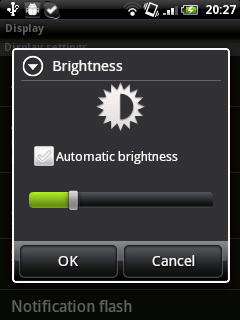 Lower Screen Brightness