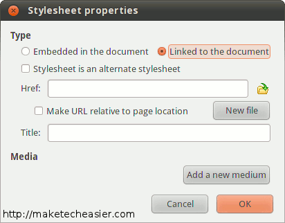 Add a style sheet