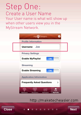 MyStream-StepOne