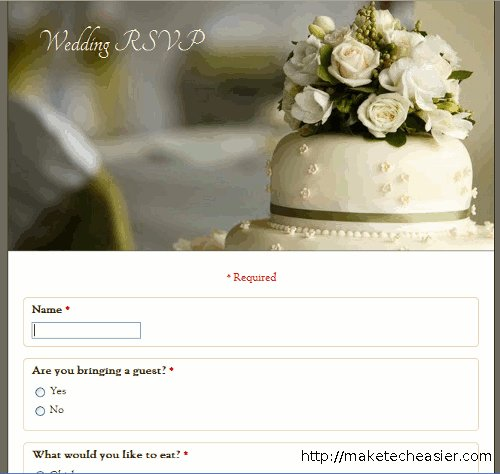 google-forms-wedding-rsvp