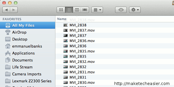Finder All My Files
