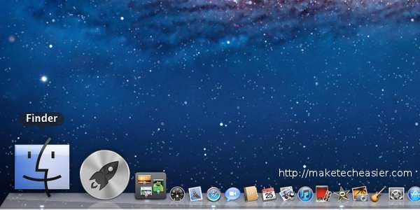 Mac Finder in the dock
