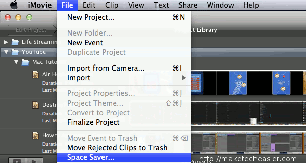 iMovie SpaceSaver