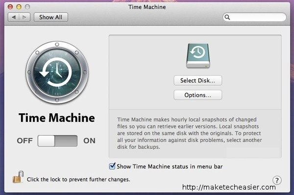 settings-time-machine