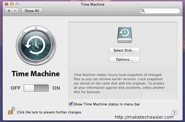 settings-time-machine