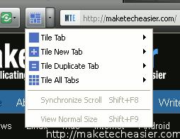 tile tab - 6 nav toolbar menu