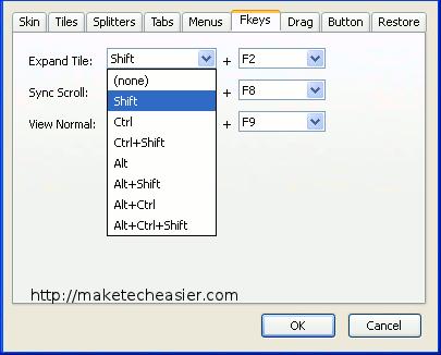 tile tab - 8 modifier key