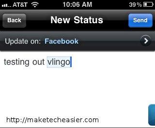 Vlingo-Facebook