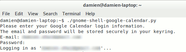 gnome-shell-google-cal-login