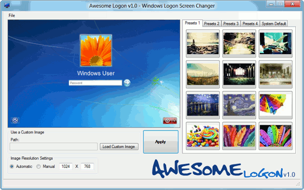 awesome logon-main window