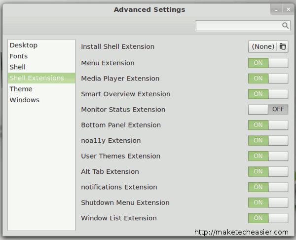 linuxmint-deactivate-extensions