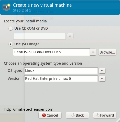 virtual machine disk setup