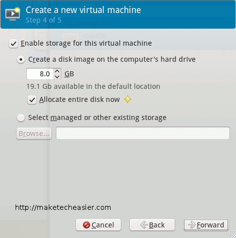 virtual machine disk creation
