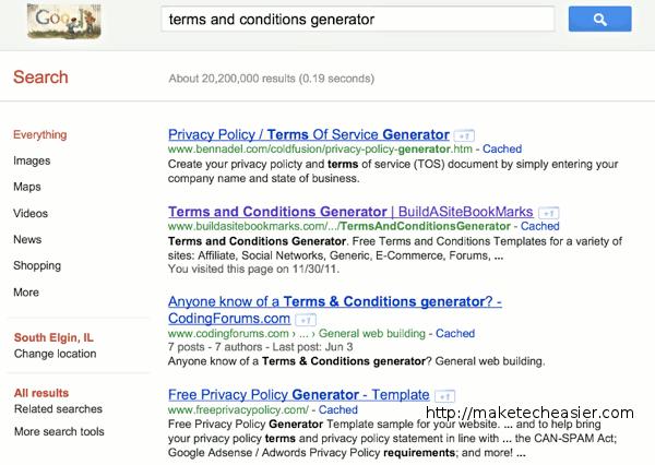 Terms-Google