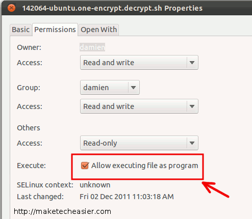 How to Easily Encrypt/Decrypt Files In Ubuntu One