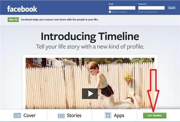 facebook timeline - activate