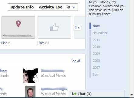facebook timeline - right sidebar timeline