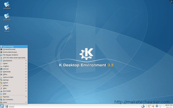 KDE 3 Desktop appearance in KDE 4