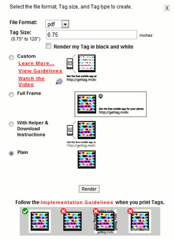 ms tag-render screen