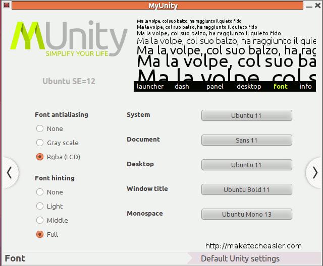 myunity-font