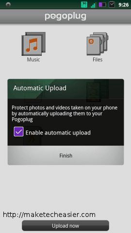 auto upload-pogoplug