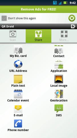 small biz apps-qr droid