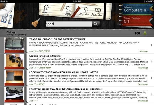 Craigslist-Listing