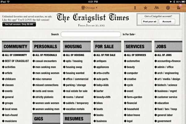 Craigslist-TimesHome