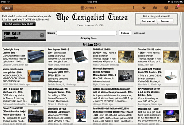 Craigslist-TimesList
